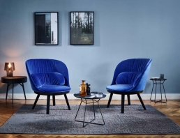 Sessel Romy von Patrick Frey für Freifrau in dunkel-blau